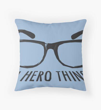 A super hero needs a disguise! Throw Pillow