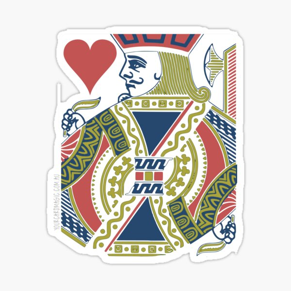 Playing Card - Jack of Hearts Sticker