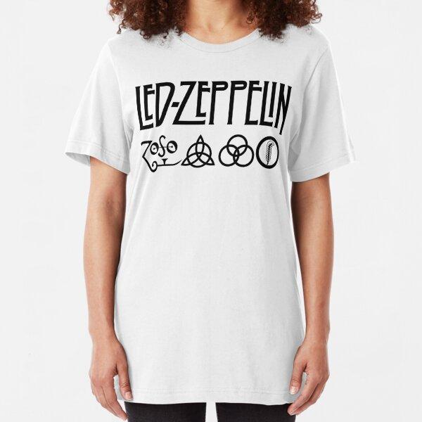 black zeppelin Slim Fit T-Shirt
