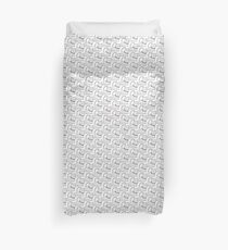 Cute Cat Illustration Duvet Cover