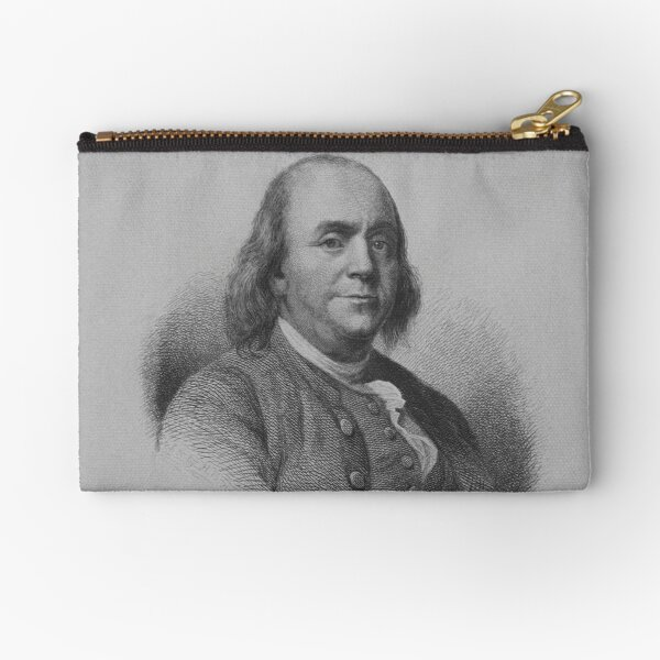 Benjamin Franklin Zipper Pouch