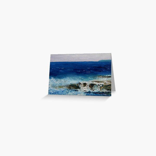 "detail ""Salish Sea Three"" oil painting  MAYNE ISLAND  Greeting Card"