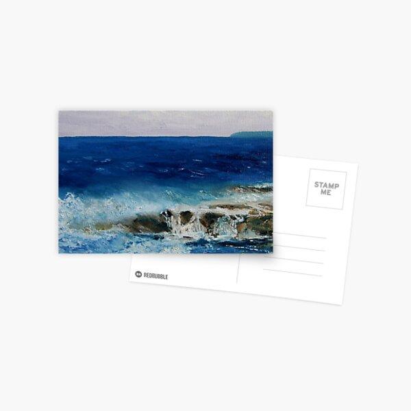 """detail """"Salish Sea Three"""" oil painting  MAYNE ISLAND  Postcard"""