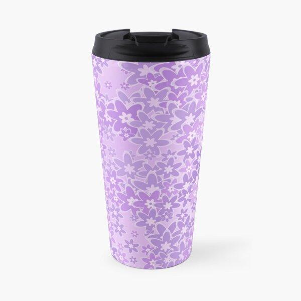 Lavender Coloured Wildflowers Pattern Travel Mug