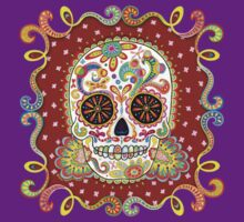 Colorful Day of the Dead Sugar Skull Shirt | Women's T-Shirt
