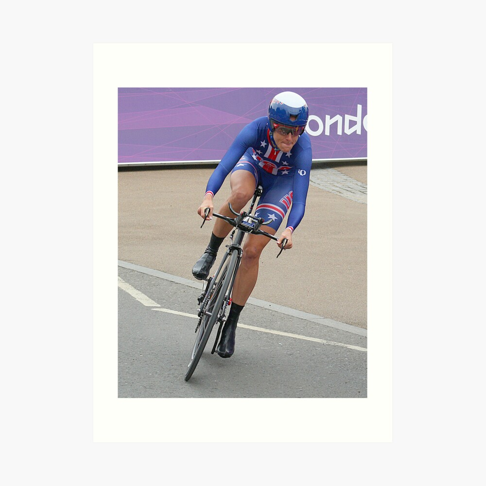 Kristen Armstrong - Starts The Women`s Individaul Time Trial - London 2012 Kunstdruck