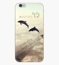 Monday Dream - Flying with My Dolphin Friends iPhone Case