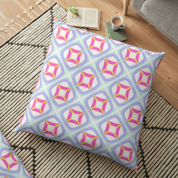 Midcentury geometric pattern Floor Pillow