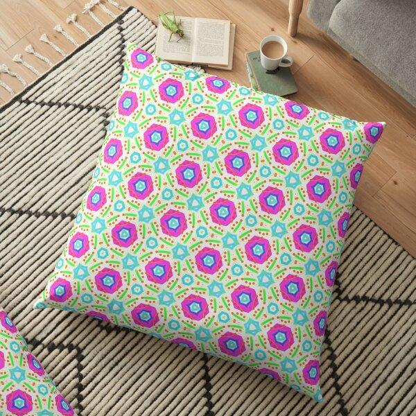 Bright geometric pattern Floor Pillow