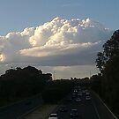 Cloud over freeway  by AmandaWitt