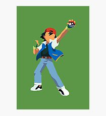 Ash Ketchum Blank Face  Photographic Print