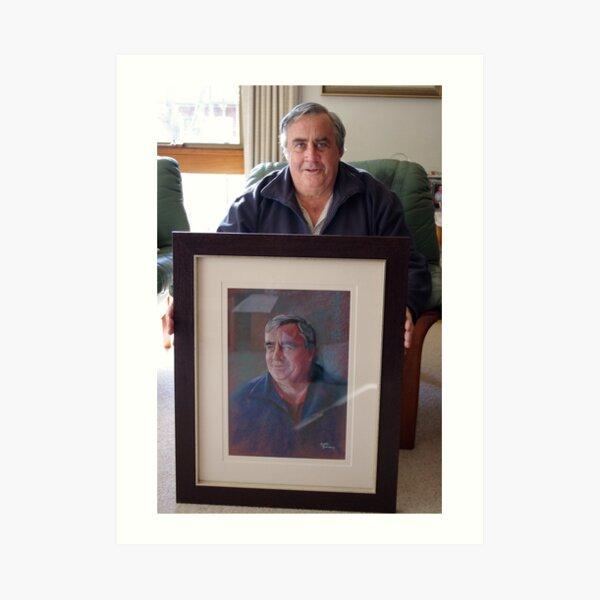 Ken with his Portrait Art Print