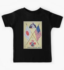 Emblems of liberty and humanity The Red Cross mother of all nations Kids Tee