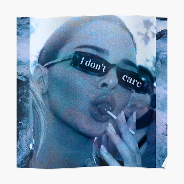 Blue kendall Jenner - I Dont Care Poster
