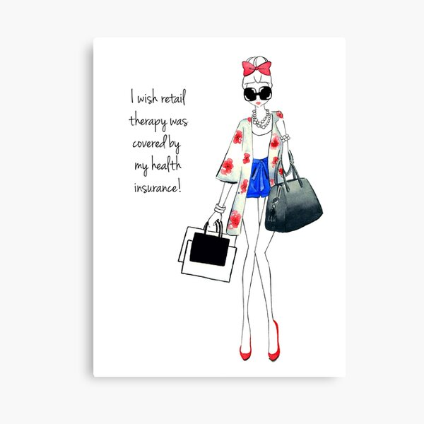 Retail Therapy Canvas Print