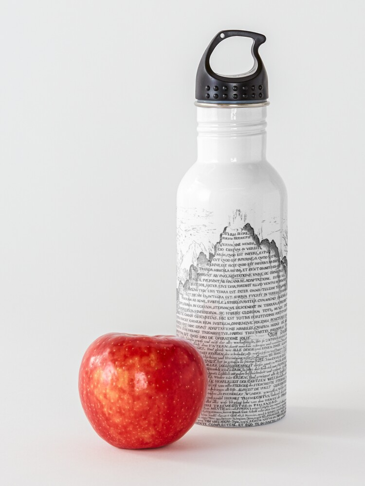 Alternate view of DARK Sic Mundus Creatus Est Water Bottle