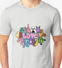 Doodle love - Colors /White Background Unisex T-Shirt
