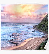 Turimetta Sunset #3 - Turimetta Beach, Sydney Australia - The HDR Experience Poster