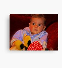 """Parker , 6months old............"" Canvas Print"