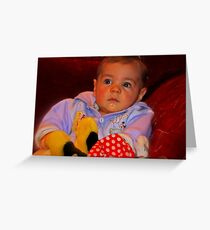 """""""Parker , 6months old............"""" Greeting Card"""