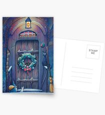 Ghibli Christmas in Howl's Moving Castle Postcards