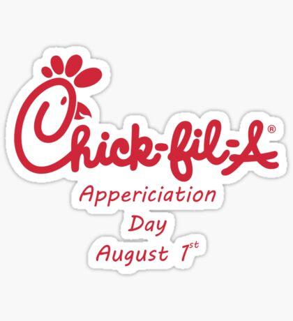 Chick-Fil-A Appreciation Day Sticker
