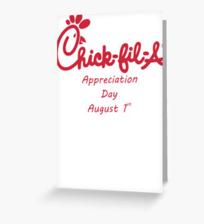 Chick-Fil-A Appreciation Day Greeting Card