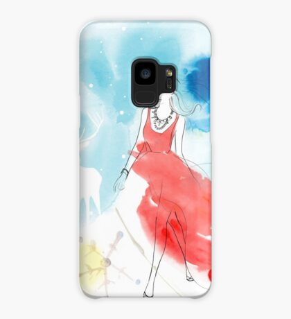 CHRISTMAS GIRL IN THE SNOW Case/Skin for Samsung Galaxy