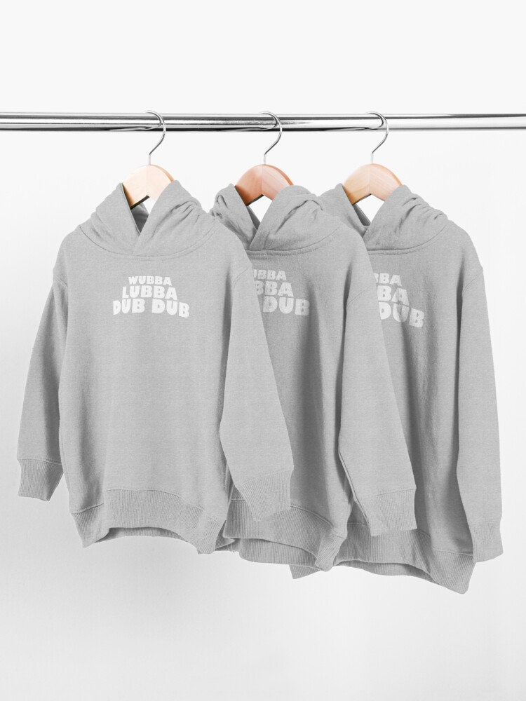 Alternate view of Wubba Lubba Dub Dub - WHITE Toddler Pullover Hoodie