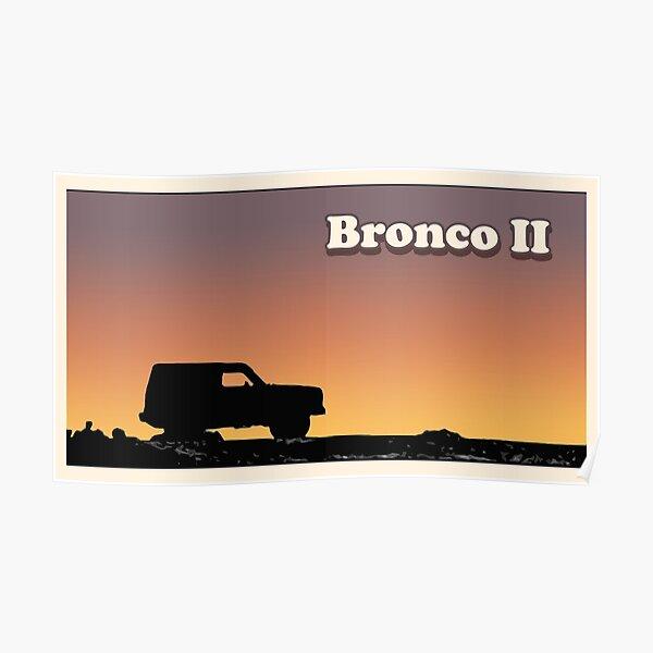 Bronco II Silhouette Sunset Poster