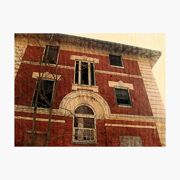 Overbrook Asylum - An Empty Dorm, or is it? Photographic Print