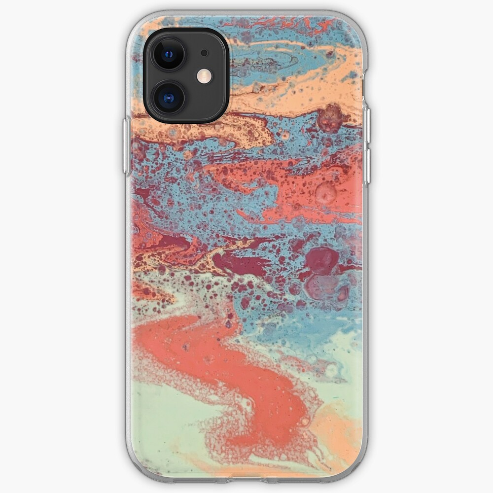 Orange and teal art phone case iPhone Case & Cover