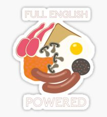 Full English Powered. Sticker