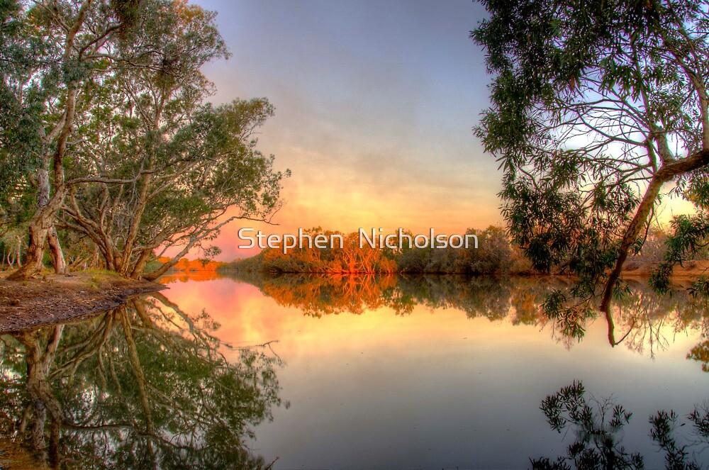 Smokey Sky Sunset by Stephen  Nicholson