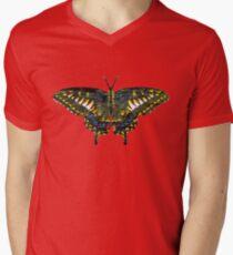 Butterfly Art Mens V-Neck T-Shirt