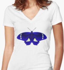 Butterfly Art 6 Women's Fitted V-Neck T-Shirt