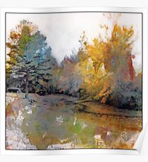 Autumn on the Pond Poster