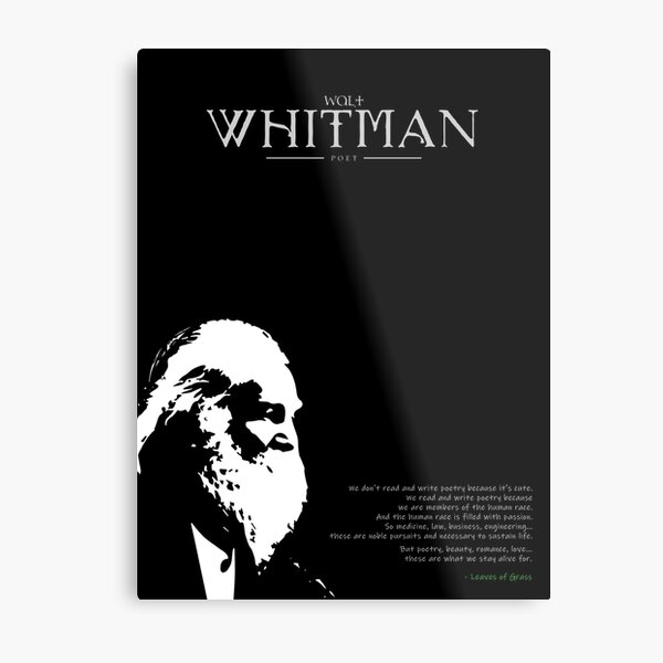 A Quote By Walt Whitman Metal Print