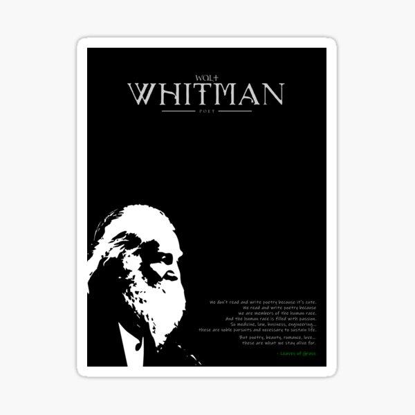 A Quote By Walt Whitman Sticker