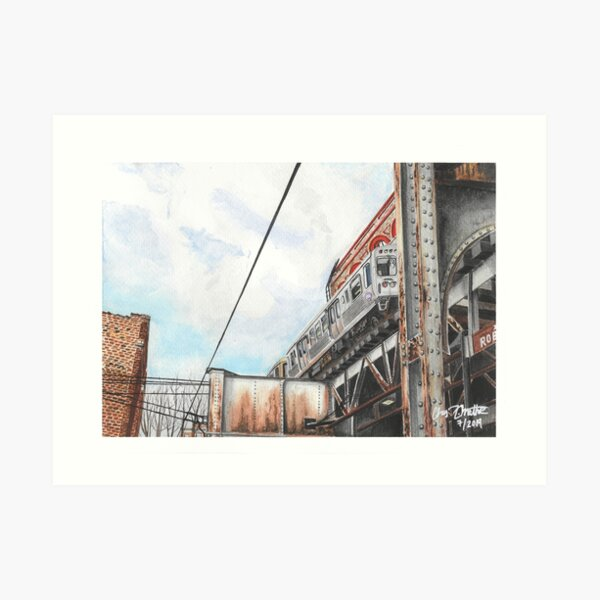 Old Town L - Chicago Art Print