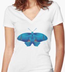 Butterfly art 11 Women's Fitted V-Neck T-Shirt