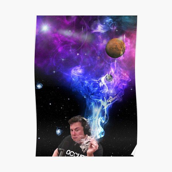 Retrato de Elon Musk: humo y espacio Póster