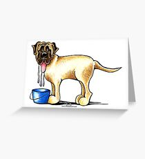Mastiff Water Maker Greeting Card