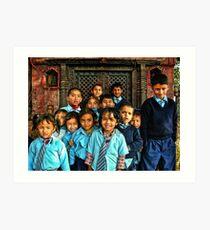 School Shrine Children Art Print