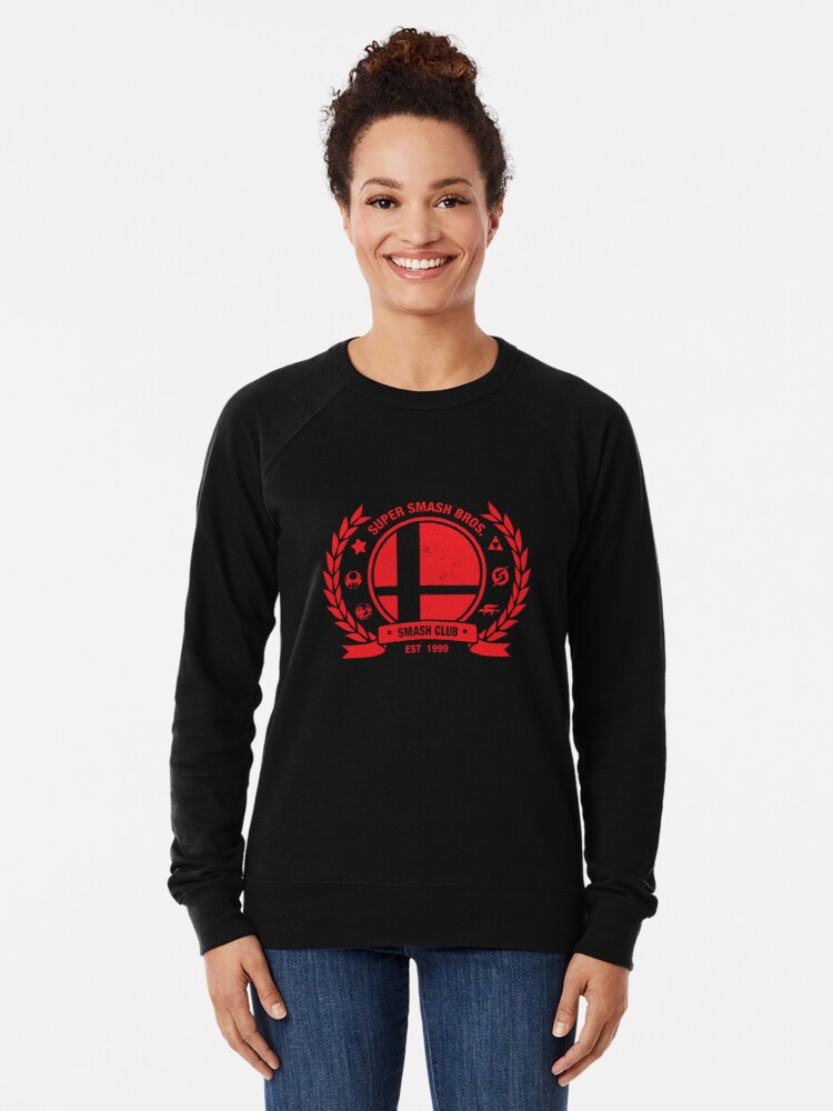 Alternate view of Smash Club (Red) Lightweight Sweatshirt
