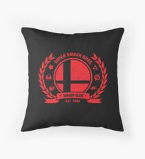 Smash Club (Red) Throw Pillow