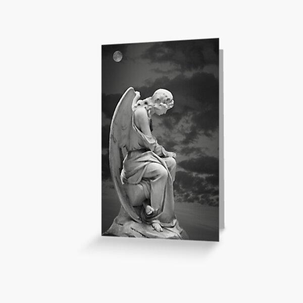 Moonlit Angel Greeting Card