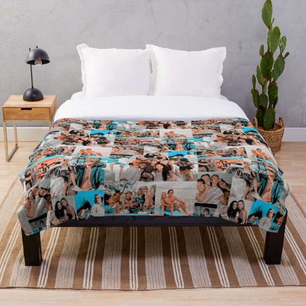Best Summer Outer Banks 2 Aesthetic Collage Throw Blanket