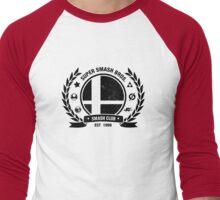 Smash Club (Black) Men's Baseball ¾ T-Shirt