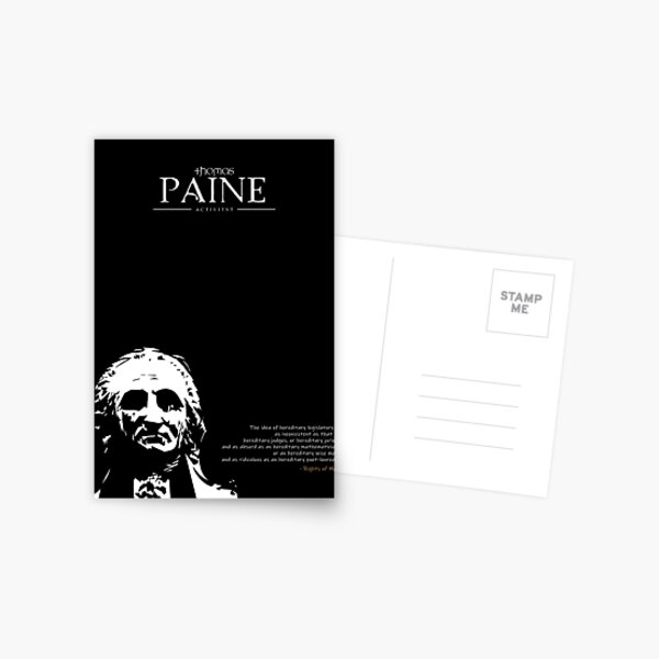 A Quote By Thomas Paine Postcard